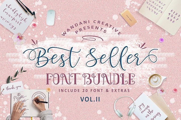 Best Seller Font Bundle Vol II
