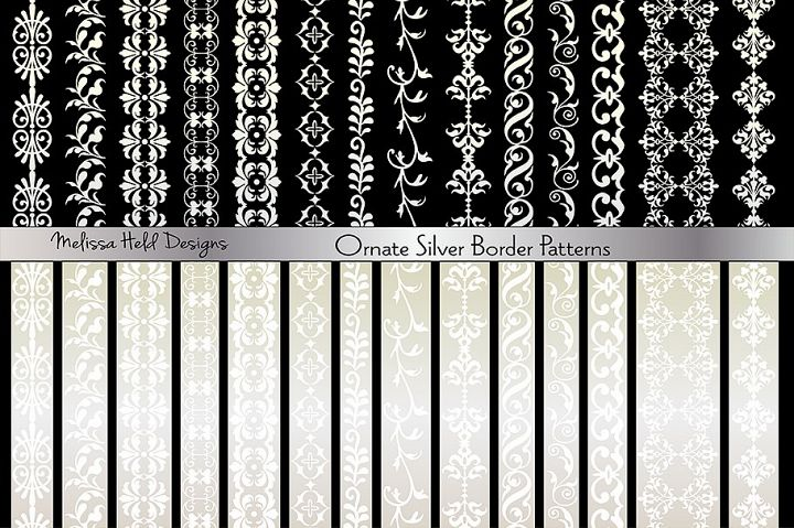Ornate Silver Border Patterns