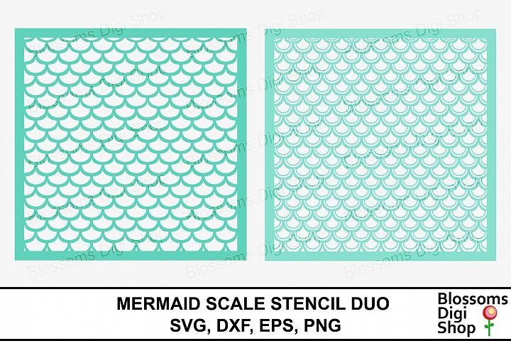 Mermaid Scale Stencil Duo