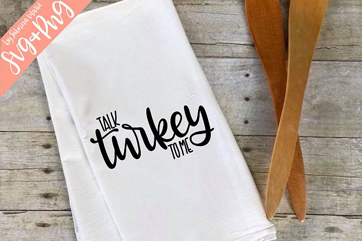Talk Turkey To Me Handlettered SVG & PNG
