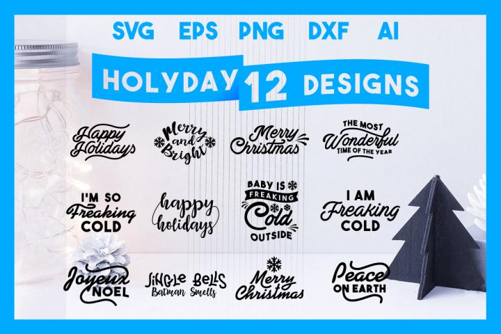 Christmas Bundle SVG Cut Files