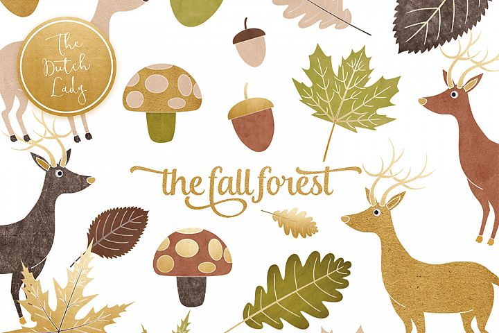 Fall Forest Clipart Set