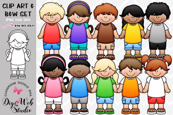 Clip Art / Illustrations - Dressed for Summer Kids
