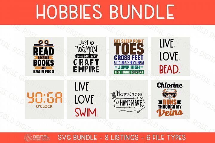 Hobbies Bundle - SVG BUNDLE - Hobby SVG Quotes, Swimming