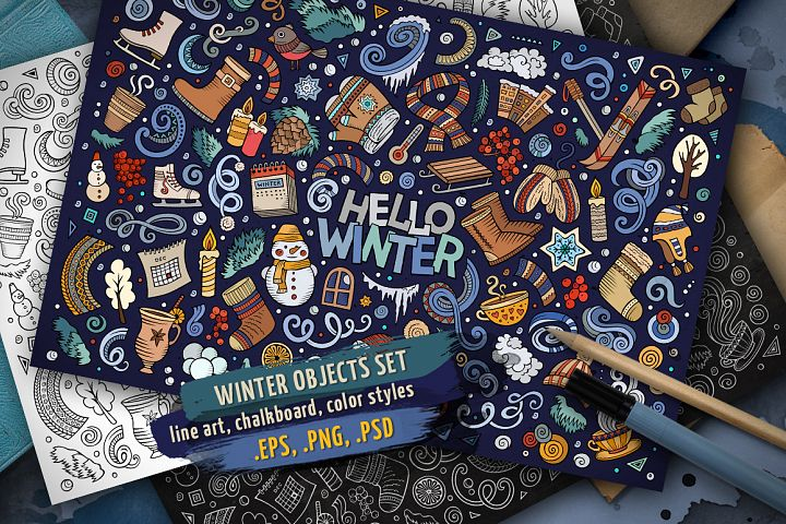 Winter Objects & Elements Set