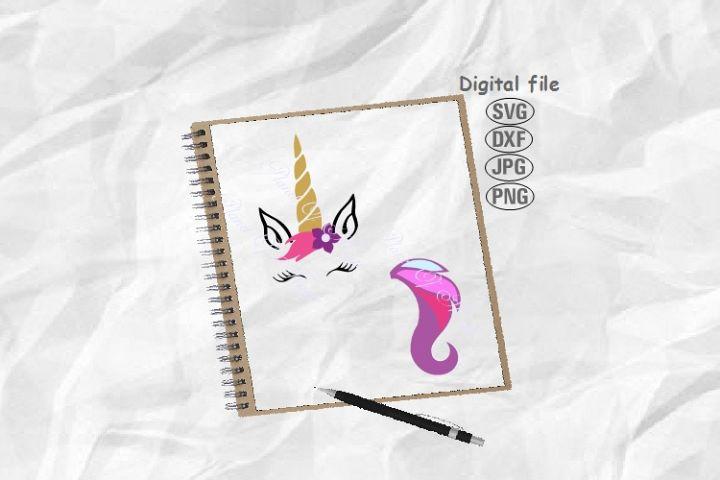Unicorn Svg, Unicorn Face Svg, Unicorn Tail Svg, Baby Svg