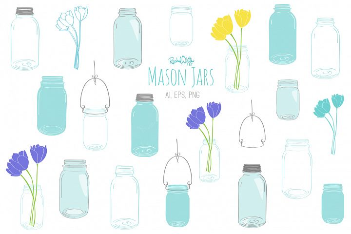 Mason Jars - Free Design of The Week