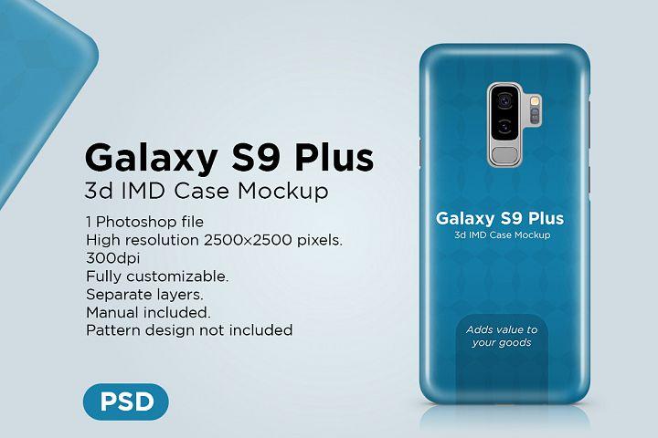 Samsung Galaxy S9 Plus 3d Phone Case Mockup