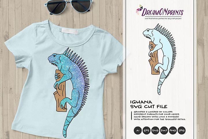 Iguana SVG Cut File | Tropical Animals Illustration