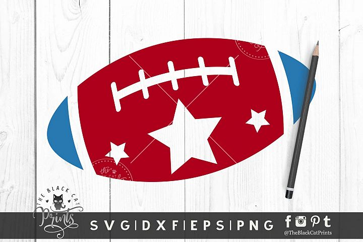 Patriotic American Football SVG DXF PNG EPS Kids 4th of july