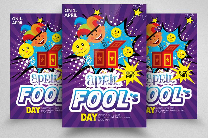 April Fool Day Flyer Template