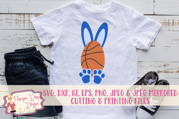 Basketball Bunny - Easter SVG, DXF, AI, EPS, PNG, JPEG