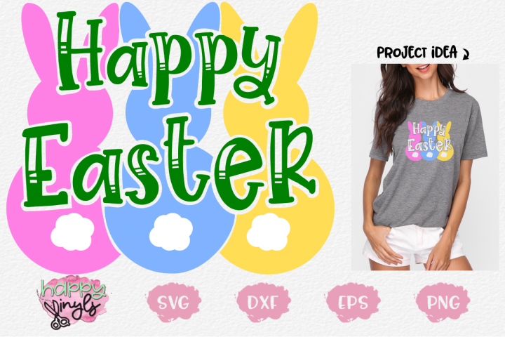 Happy Easter Bunnies - An Easter SVG Design
