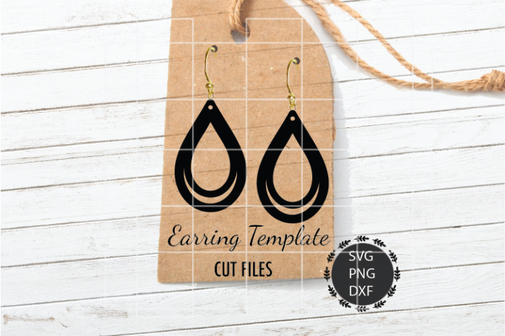 TearDrop Earrings Svg, Tear Drop, Double Cut Earrings Svg