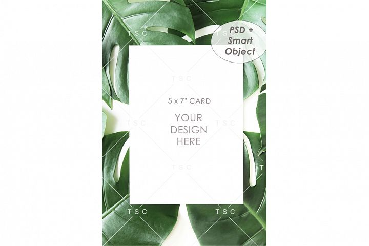 Portrait-mode 5 x 7 Card Mockup / Invitation Mockup