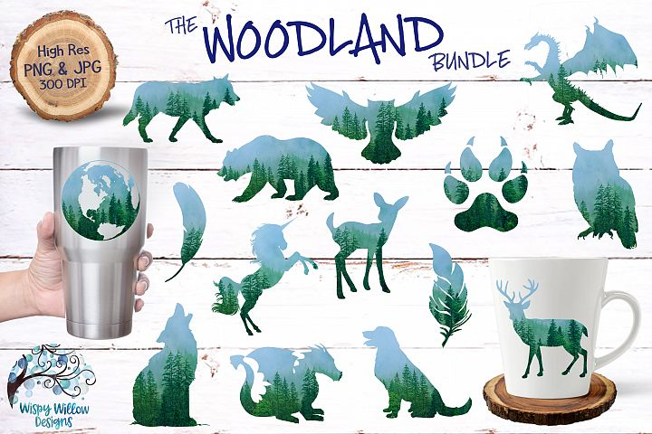 The Woodland Clipart Bundle | Forest Animals | Sublimation