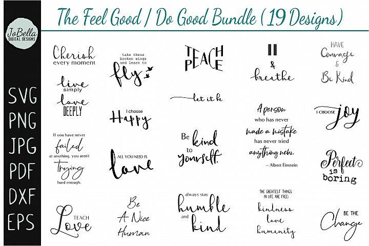 Motivational SVG Bundle, Sublimation Designs & Printables