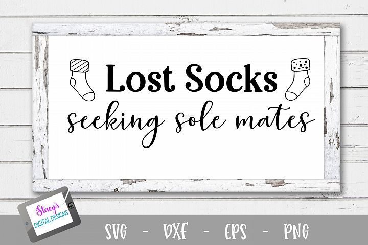 Laundry SVG - Lost socks seeking sole mates