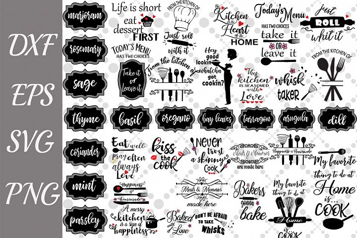 Kitchen Svg Bundle,KITCHEN LABEL SVG, Kitchen Quotes Svg