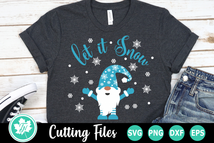 Let it Snow Gnome - A Christmas SVG Cut File