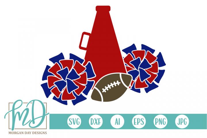 Cheerleader - Football Cheer SVG, DXF, AI, EPS, PNG, JPEG