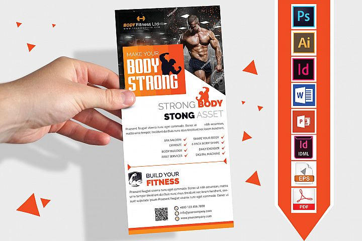 Rack Card   Gym & Fitness DL Flyer Vol-03