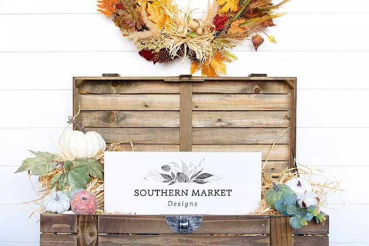 Fall Wood Framed Sign 8x20 Vertical Mock Up Photo Stock Phot