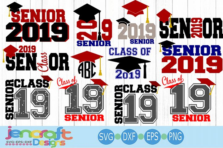 Graduation Senior Class Of 2019 Bundle SVG, EPS, DXF, Png