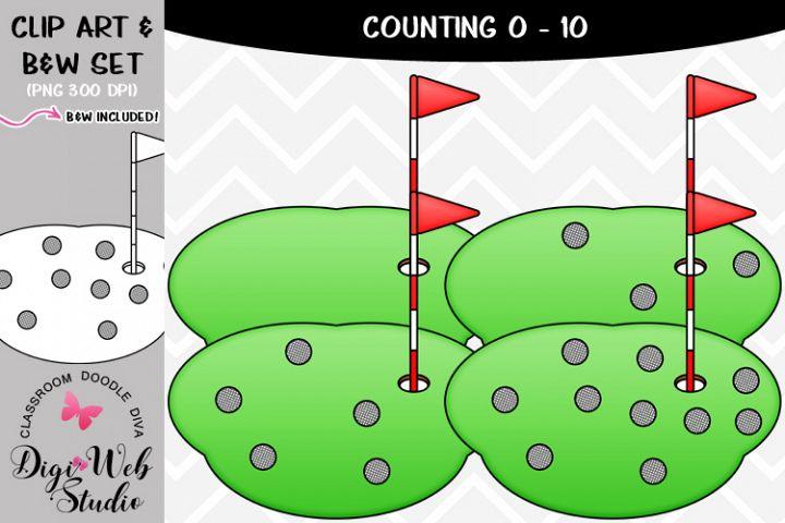 Clip Art / Illustrations - 0-10 Counting Golf Balls