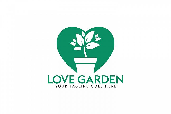 Love Garden Logo Design.