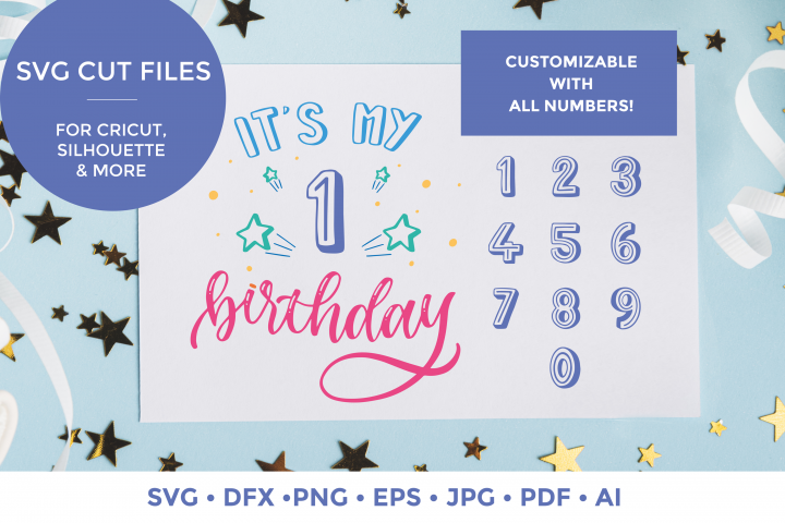 Its My Birthday| Numbers | Party SVG cut file