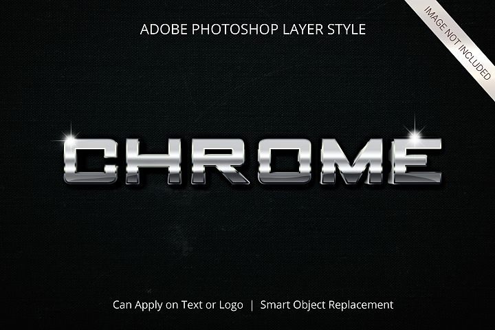 Photoshop Chrome Text Effect Layer Style