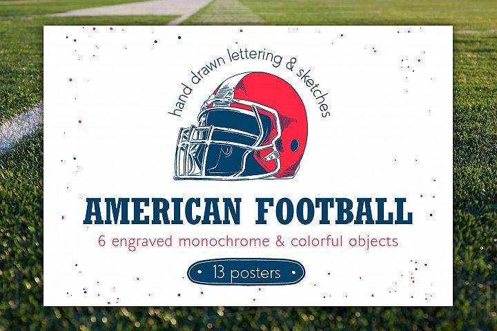 American Football Illustrations