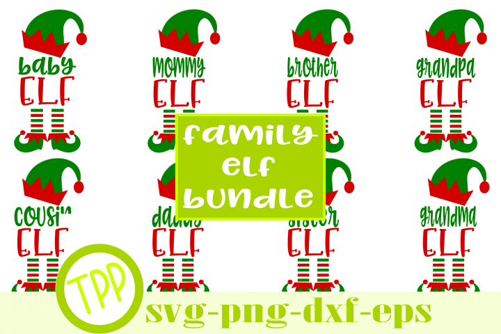 Christmas Elf Bundle svg, Family Elf svg, Elf svg