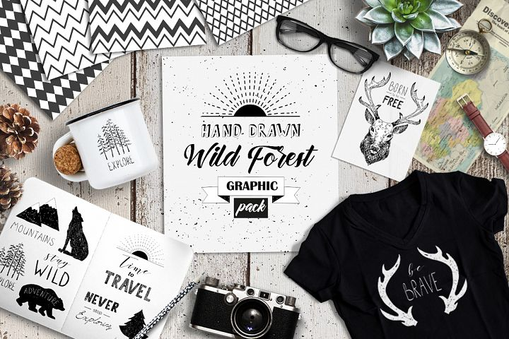 Wild Forest graphic pack - Free Design of The Week Font