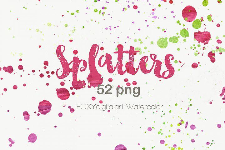 Watercolor paint splatters grunge graffiti photoshop brush