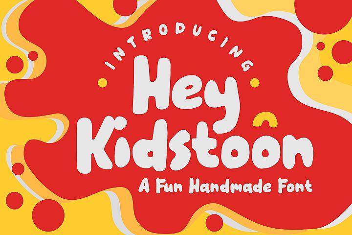 Hey Kidstoon a fun handmade font