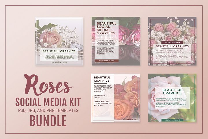 Roses Social Media Kit Bundle