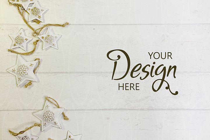 Christmas background mockup Styled stock photography White