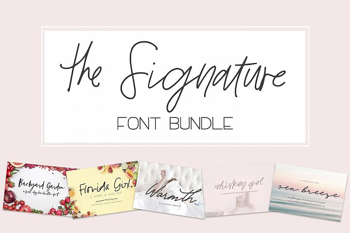 The Signature Font Bundle by Beck McCormick