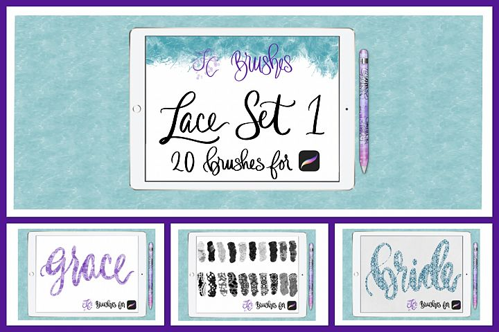 FC-Lace Brush Set 1 for PROCREATE