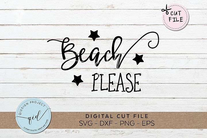 Beach Please SVG DXF PNG EPS