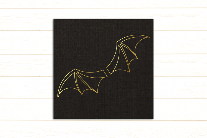 Bat Wings SKETCH Single Line Drawing Pen & Foil Quill SVG