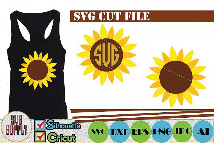 Sunflower SVG Cut File
