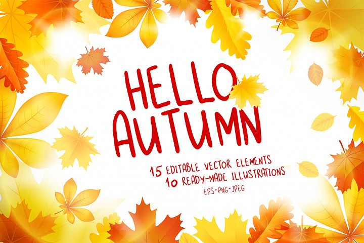 Hello Autumn Vector Collection