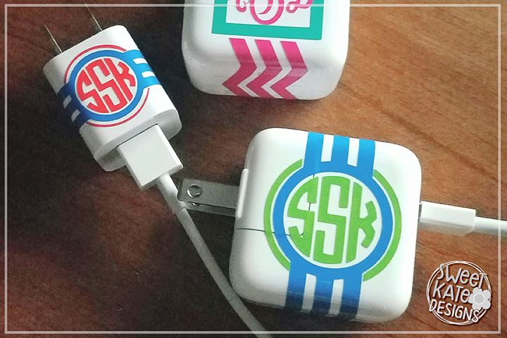 Charger Cord Monogram Wraps SVG DXF EPS