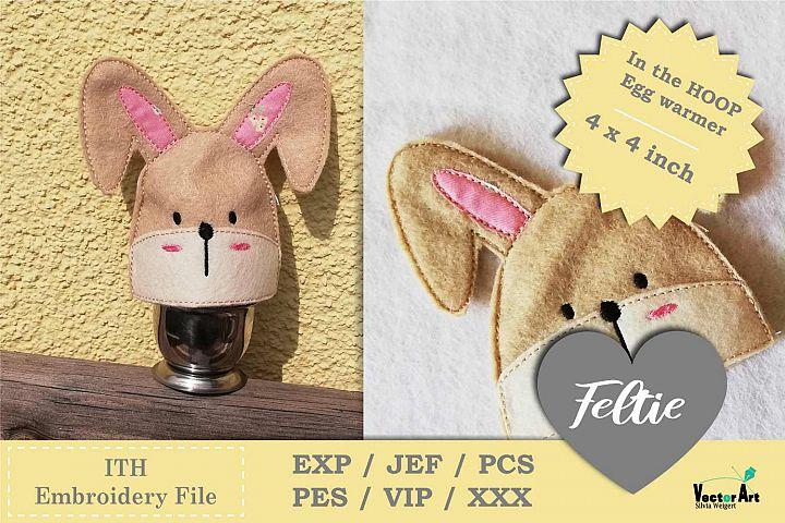 ITH - Feltie Bunny - Egg Warmer - Embroidery File