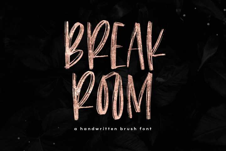 Breakroom - A Bold Handwritten Brush Font