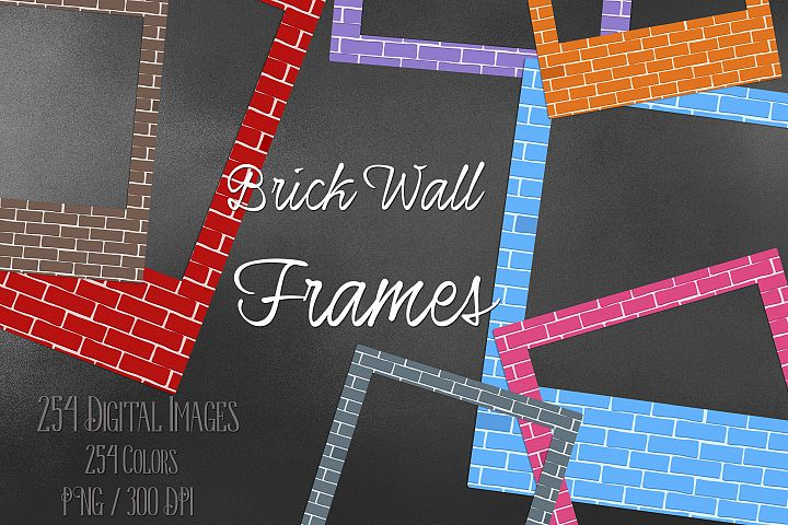 254 Brick Wall Polaroid Photo Booth Baby Shower Photo Frames