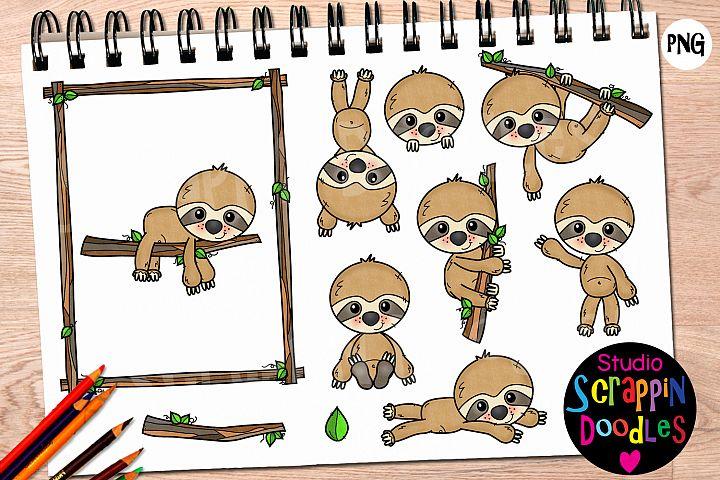Sloth Cuties Clip Art